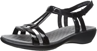 Clarks Women's Sonar Aster Sandal, black synthetic patent, 7 Medium US