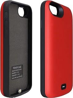 HiKiNS iPhone 5 / 5S / SE 対応 バッテリーケース 4000mAh ポータブル保護充電ケース容量 軽量 チャージャー 一体型 バッテリー内蔵ケース (4.0インチ) ケースサポートLightningヘッドフォン - RED