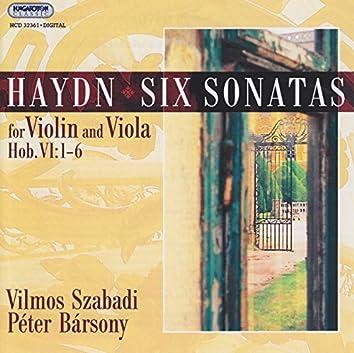 Haydn: 6 Sonatas for Violin and Viola