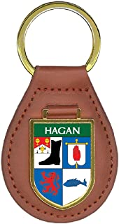Hagan Family Crest Coat of Arms 4 Total Key Chains