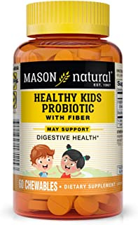 Mason Natural, Healthy Kids Probiotic with Fiber Immune and Digestive Support, Chewable Tablets, 60 Count, Children's Diet...