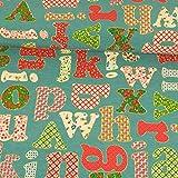 Dekostoff Buchstaben Canvas - Preis gilt für 0,5 Meter