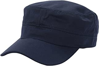 Merssavo Flat-top Patrol Cap Fatigue Hat Army Military Soldier Combat for Male and Female Navy Blue