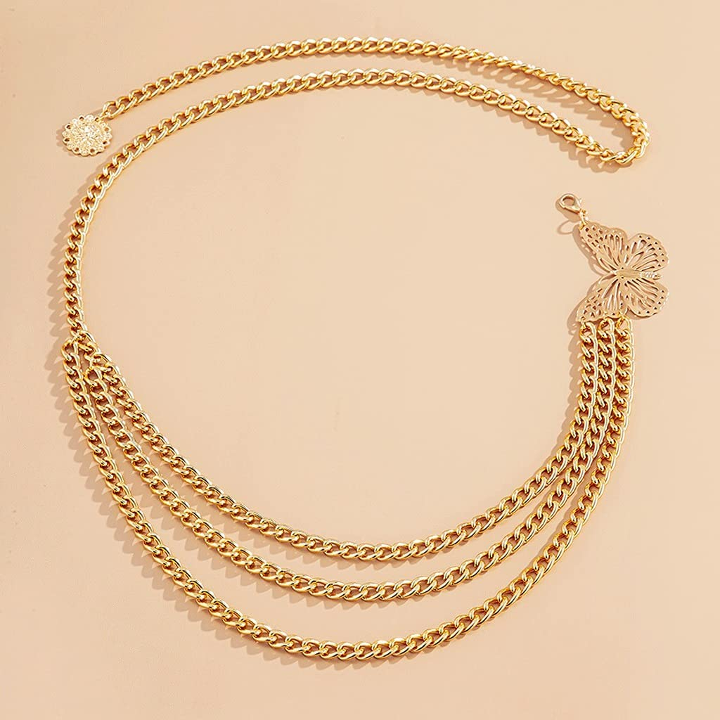 sold out Popular products UXZDX Bohemian Elegant Style Multilayer Chain Waist Butterfly Bo