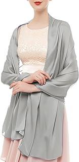 bridesmay Seide Halstuch 180  90cm Stola Schal Seidenschal Festlich Hochzeit für Kleider in verschiedenen Farben