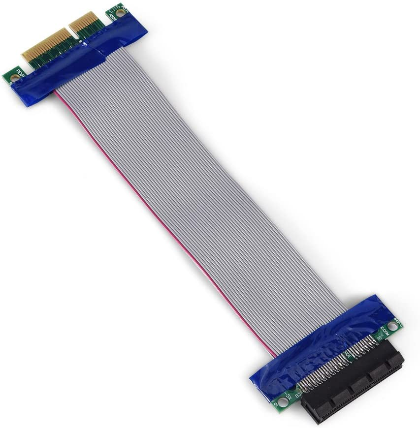 Yoidesu PCI-E Extender Extension Cable PCI-E 1X 4X 8X 16X Male to Female VGA Graphics Card Extended Cable Flexible Cable High Speed Express Riser Card PCI-E 1X to 1X