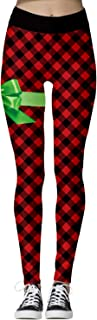 Womens Active Ugly Christmas Print Tights High Waisted Workout Leggings
