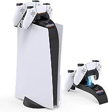 Estação de carregamento com controle PS5 atualizada DualSense, instalação superior PS5/desktop, carregamento rápido duplo ...