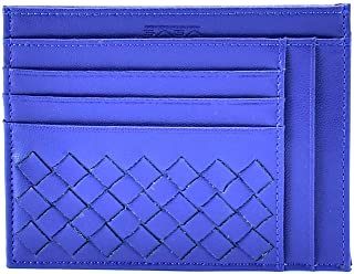 Saga Leather Card and ID Cases for Unisex , Blue