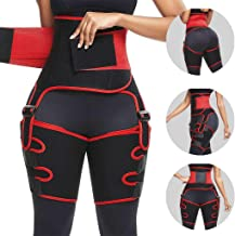 Opeer Hip Belt Sports Adjustable Siamese Girdle Body Shaper Enhancer Invisible Lift Butt Lifter Shaper Waist Trainer Thigh Trimmers for Women