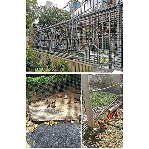 LJIANW Patio Snow Fence, Chicken Wire Net, Can Be Cut Temporary Barrier Durable Polypropylene for Poultry Fence Balcony Stairs Security, Length 50m (Color : 0.9MM, Size : 1X50M)