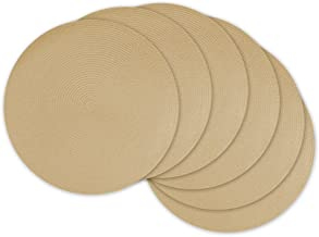 DII, Classic Round Placemats, Woven , Set of 6, 15