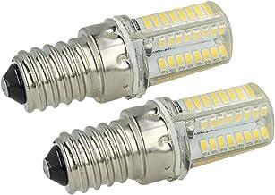 LEDLUX 2 stuks buisvormige ledlamp E14 3,5W 220V voor afzuigkap 360 ° verlichting met siliconenbescherming [energie-effici...