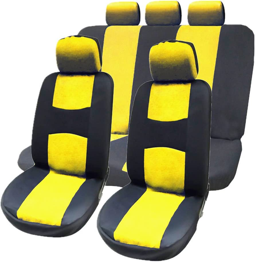 9 Pcs Super-cheap Full Award-winning store Set Car Seat Covers Detachable Headrests with Univers