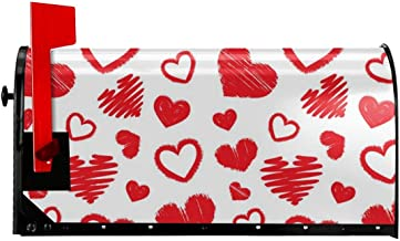 Cute Size Love Print Mailbox Cover Magnetic Mailbox Wraps Post Letter Box Cover Standard Size 21 x 18 Inches Waterproof Canvas Mailbox Cover