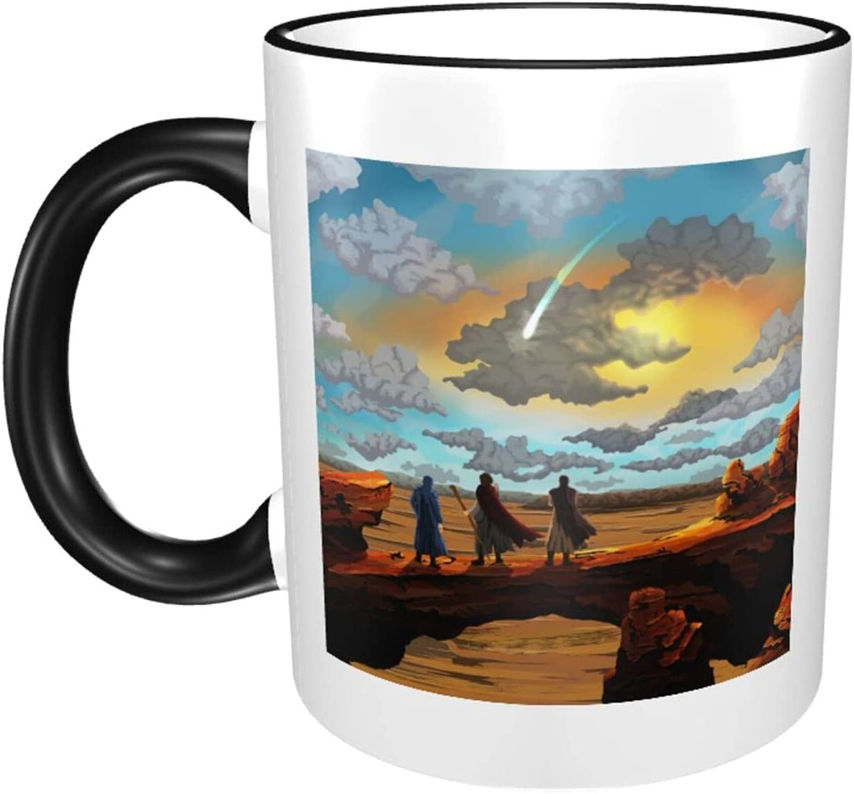 Desert Spring new work 11oz Large Fixed price for sale Coffee Mugs Sturdy Print Ceramics Wat Cute Cup