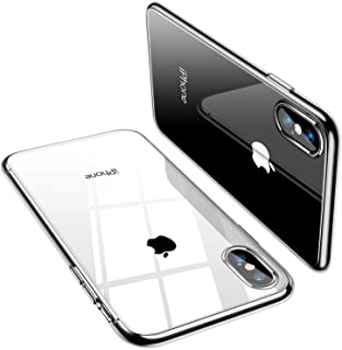 TORRAS Crystal Clear Compatible for iPhone Xs Max Case, [Non-Yellowing] Soft Silicone Shockproof TPU Slim Thin Protective ...