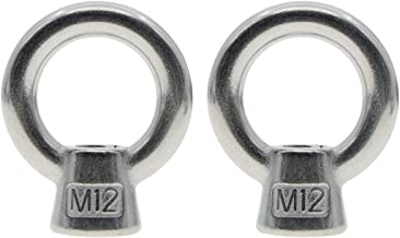 Saim M12 Female Thread Lifting Ring Eye Bolt Stainless Steel Screw Bolt 2Pcs