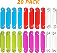 Cable Tags Multicolored Write on Cord and Cable Identification and Marking System, 20 Pieces