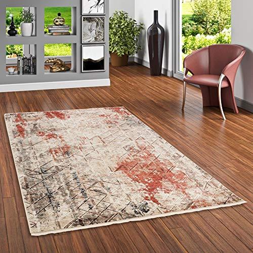 Designer Teppich Nia Vintage Rost Blau Verlauf in 4 Größen