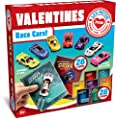 JOYIN 28-Count Valentines Day Gifts Cards, Valentine's Greeting Cards for Kids with Die-Cast Racing Cars Valentine Classroom Exchange Party Favor Toy