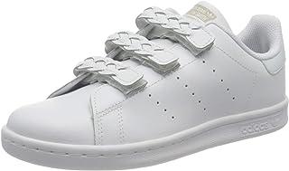 adidas Originals Stan Smith CF C, Baskets Mixte Enfant, Cloud White/Cloud White/Grey One, 33.5 EU