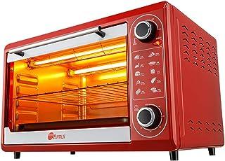 Horno Inteligente Pequeño De 48L, Mini Horno Eléctrico Multifuncional Con Bandeja De Doble Parrilla, Placa De Cocción De Pizza Para Pasteles Domésticos, 1600W 230 ℃