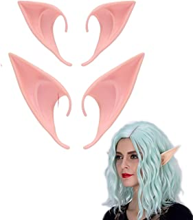 MYMENU Fairy Pixie Elf Ears Anime Party Dress Up Costume Accessories Halloween Party Props Masquerade Ball Elven Vampire Fairy Ears (2 Pair)