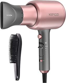 KIPOZI Negative Ions Hair Dryers Professional Salon Ionic Blow Dryer 1875 Watt Hairdryer with Concentrator Nozzle Attachme...