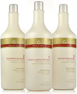 G.Hair Original Formula Smoothing Treatment Kit- 3-Steps - 33.8Oz / 1L