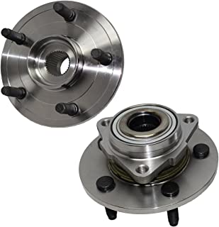 Detroit Axle - 515072 Pair Front Wheel Hub and Bearing Assemblies for 2002 2003 2004 2005 2006 2007 2008 Dodge Ram 1500 - NO ABS