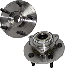 Detroit Axle - Brand New Pair Front Wheel Hub and Bearing Assemblies, NO ABS on HUB fits [2002-2008 Dodge Ram 1500 No ABS on Hub 5-Lug]