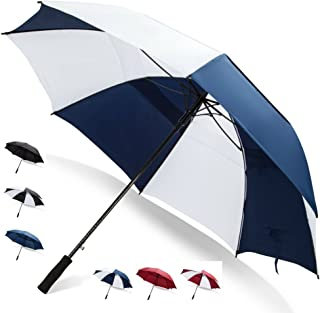 Third Floor Umbrellas 62/68 Inch Automatic Open Golf Umbrella - Extra Large Vented Windproof Waterproof Sturdy Double Canopy
