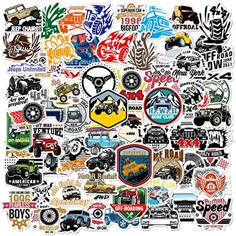 Acekar Jeep Stickers and Dirt Bike Stickers 65 Pack Vinyl Waterproof Stickers for Laptop Skateboard product image