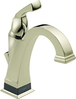 Delta Faucet 551T-PN-DST Dryden Single Handle Centerset Bathroom Faucet with Touch 20.XT Technology, Polished Nickel,7.88 ...