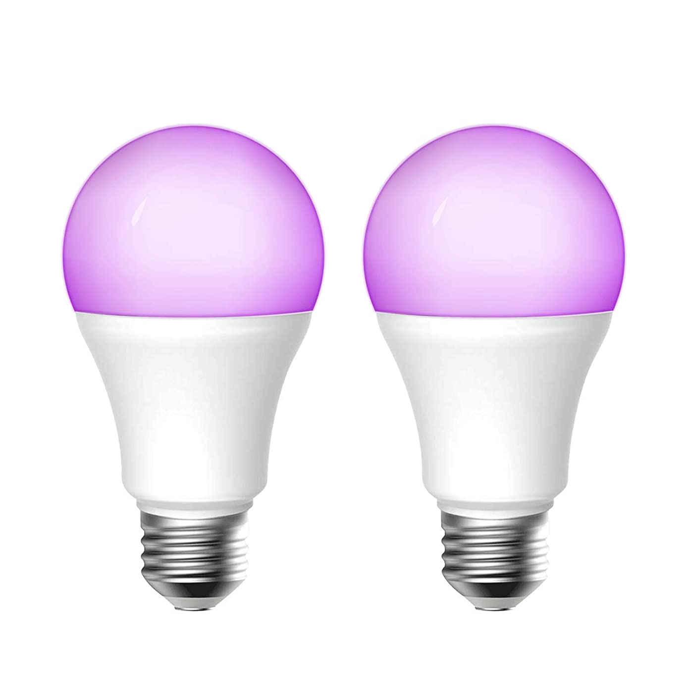 meross Smart Wi-Fi LED Bulb, Multiple Colors, RGB, 60W Equivalent, Compatible with Alexa, Google Assistant and IFTTT, E26 Light Bulb, No Hub Required (2 Pack)
