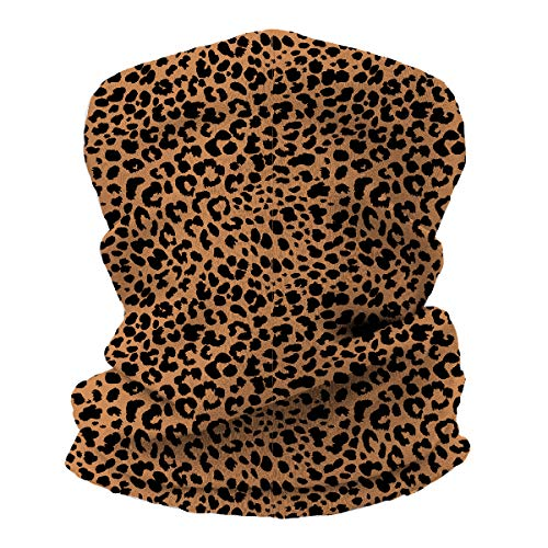 Seamless Face Cover Mouth Mask Bandanas Leopard Print, Oooh Yeah Neck Gaiter Scarf Headwear Tube for Dust, Outdoors - Animal Peak