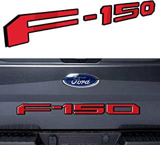 Arita Tailgate Insert Letters for Ford F150 2018 2019 2020-3M Adhesive & 3D Raised Metal Tailgate Decal Letters - Gloss Red with Black Border