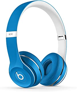 Beats Solo2 On-Ear Headphone Luxe Edition (WIRED, Not Wireless) (Renewed) - Blue