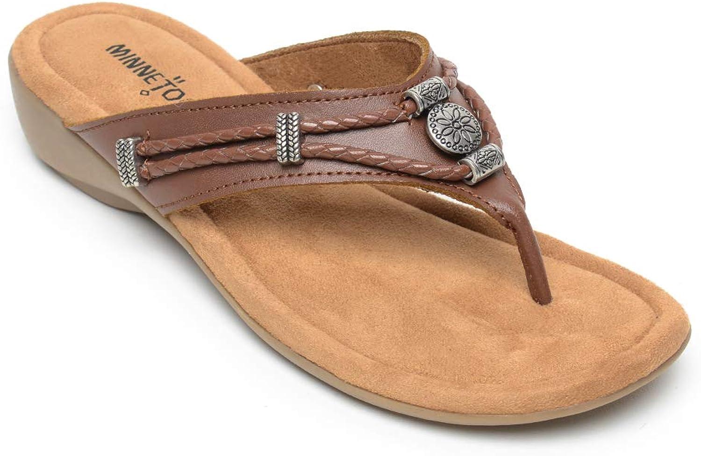 Minnetonka Women's, Silgreenhorne Thong Sandals Whiskey 11 M