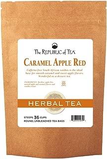 The Republic of Tea Caramel Apple Red Tea, 36 Tea Bags, Caffeine-Free Premium Rooibos Dessert Tea