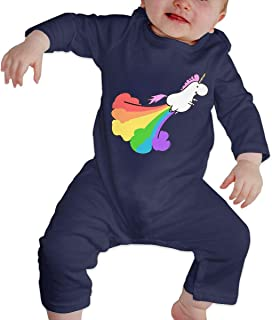 He Chang Yi Fart Rainbow Unicorn Unisex Baby Bodysuit Onesie Baby Clothes