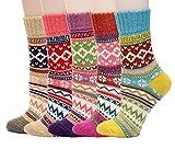 MAKFORT Dicke Warme Socken Damen Wolle Winter Socken Frauen Weihnachten Geschenk-5 Paaren