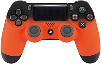 "PS4 Wireless Custom Controller for Playstation 4 -""Soft Touch (Orange & Black Fade)"