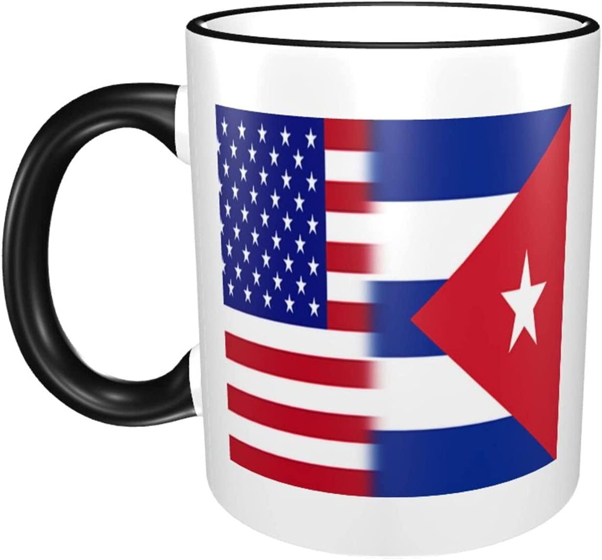 Mixed Usa Cuba Flag Mugs Black One Women for Coffee Large-scale sale Popular product Mug Size and