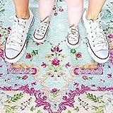 Rozenkelim Vintage Teppich   Shabby Chic Look Teppichläufer für Wohnzimmer, Schlafzimmer und Flur   70% Polypropylen, 30% Baumwolle (Pastell, 225cm x 155cm, 8 mm hoch) - 4