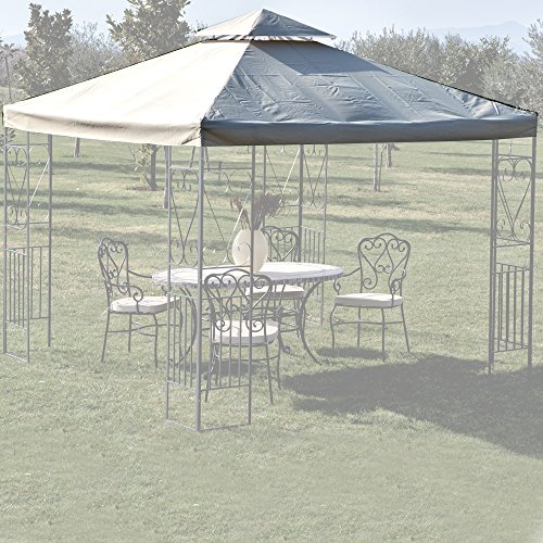 Toile de rechange pour tonnelle avec airvent, 3 x 3 m, avec couverture de couleur blanche