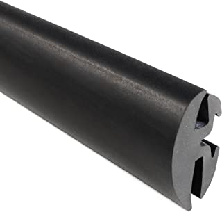 """Trim-Lok EPDM Dense Rubber Window Locking Gasket and Weather Stripping Window Seal – Provide a Secure Seal Between a Body Panel and Window, Excellent Weather Strip Seal - Two-Piece Locking Action (Inline), Fits 1/4"""" Glass and 1/8"""" Panel Edge, 25' Length"""