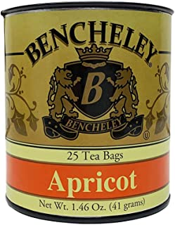 Bencheley Tea Apricot 25 Tea Bag Tin 1.46oz