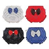 Tancurry Juego de 4 braguitas de verano para niña, diseño de lunares, suaves, suaves, para el verano multicolor 100 cm